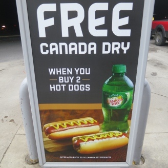 Canada Dry n' hot dogs