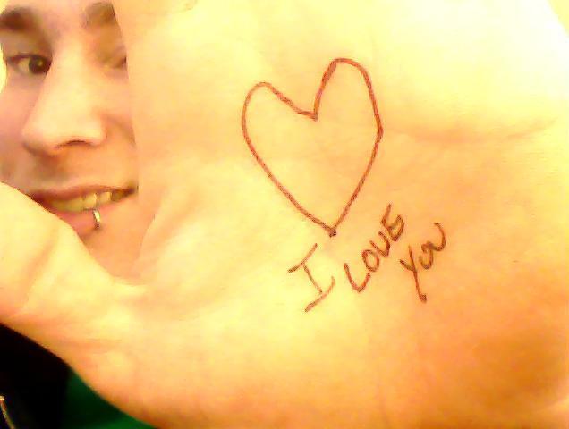 I Love You hand
