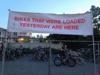 Montauk Century bike signage