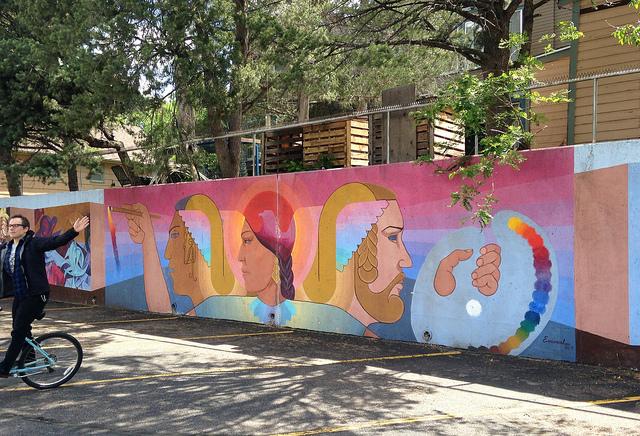 Mural outside Colorado Springs Fine Arts Center