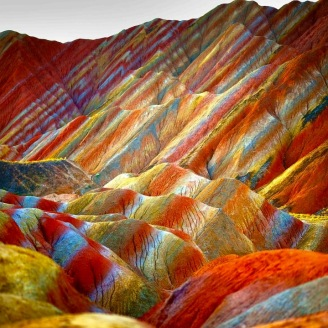 Zhangye Danxia Landform Geological Park, China
