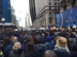 Anti Trump rally NYC crowds