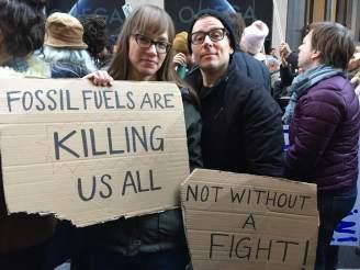 Anti Trump rally NYC cardboard signs