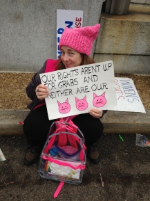 Womens march protest sign