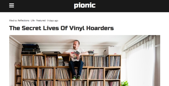 The Secret Lives of Vinyl Hoarders pionic story headline