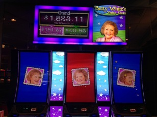 Betty White slot machine Las Vegas