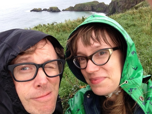Near the Carrick-a-Rede Rope Bridge in County Antrim