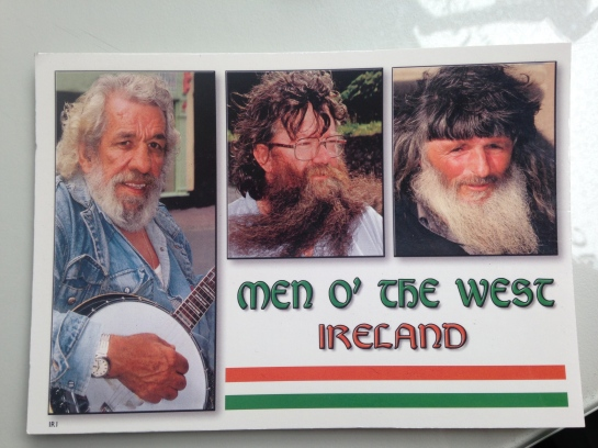 Bearded Men O The West postcard Ireland