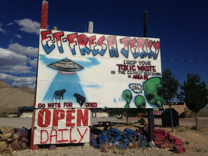 Toxic waste alien sign Nevada