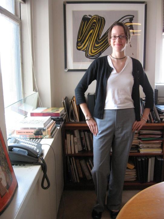 Woman standing in office Lichtenstein