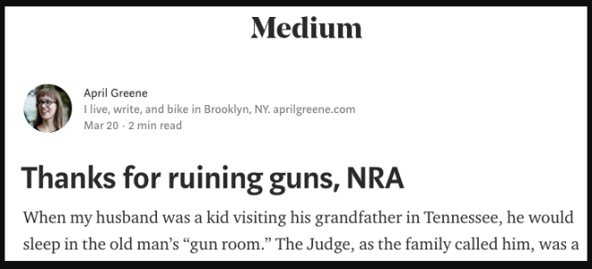 NRA story on Medium