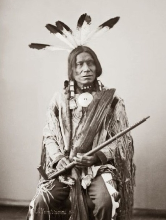 Yankton Sioux Red Lodge ceremonial pipe