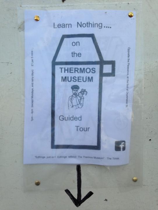 Thermos Museum poster Edinburgh Fringe
